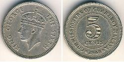5 Cent Malayan Union (1946 - 1948) Copper/Nickel