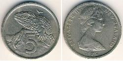 5 Cent New Zealand Copper/Nickel Elizabeth II (1926-)
