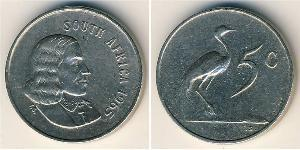 5 Cent South Africa Copper/Nickel