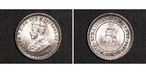 5 Cent Straits Settlements (1826 - 1946) Copper/Nickel George V of the United Kingdom (1865-1936)