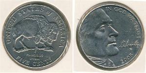 5 Cent USA (1776 - ) Copper/Nickel Thomas Jefferson (1743-1826)