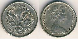 5 Cent Australien (1939 - ) Kupfer/Nickel Elizabeth II (1926-)