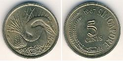 5 Cent Singapur Kupfer/Nickel