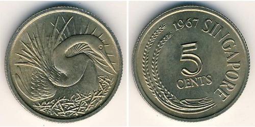 5 Cent Singapur Kupfer/Nickel