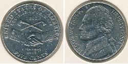 5 Cent Vereinigten Staaten von Amerika (1776 - ) Kupfer/Nickel Thomas Jefferson (1743-1826)