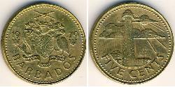 5 Cent Barbados Latón