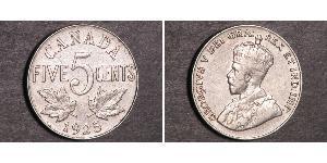 5 Cent Canadá Níquel Jorge V (1865-1936)