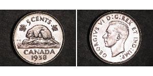 5 Cent Canadá Níquel