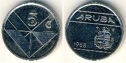 5 Cent Aruba Níquel/Cobre