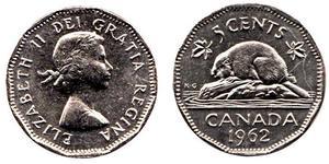 5 Cent Canadá Níquel/Cobre Isabel II (1926-)