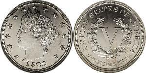 5 Cent Estados Unidos de América (1776 - ) Níquel/Cobre