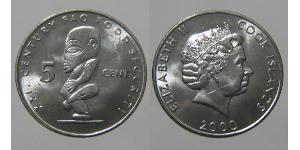 5 Cent Islas Cook Níquel/Cobre Isabel II (1926-)