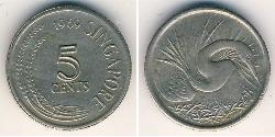 5 Cent Singapur Níquel/Cobre