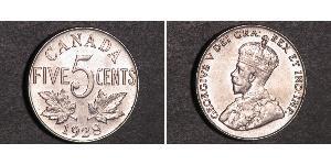 5 Cent Canada Nichel Giorgio V (1865-1936)