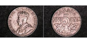 5 Cent Canada Nickel George V of the United Kingdom (1865-1936)