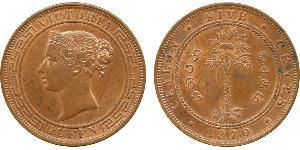 5 Cent Sri Lanka Rame Vittoria (1819 - 1901)