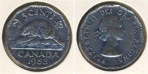 5 Cent Canada Rame/Nichel Elisabetta II (1926-)