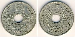 5 Cent Indocina francese (1887-1954) Rame/Nichel