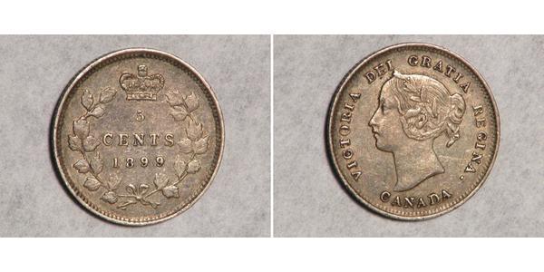 5 Cent Kanada Silber Victoria (1819 - 1901)