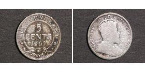 5 Cent Canada Silver Edward VII (1841-1910)