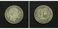 5 Cent Denmark Silver Frederick VII of Denmark (1808-1863)