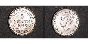 5 Cent Newfoundland and Labrador Silver George VI (1895-1952)