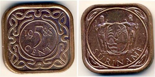 5 Cent Suriname Steel/Copper