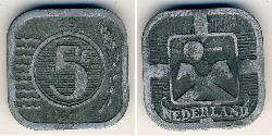 5 Cent Kingdom of the Netherlands (1815 - ) Zinc