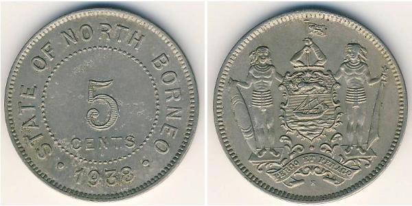 5 Cent Borneo del Nord (1882-1963)