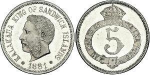 5 Cent Vereinigten Staaten von Amerika (1776 - )  David Kalākaua