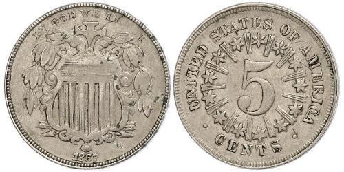 5 Cent Vereinigten Staaten von Amerika (1776 - )