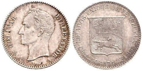 5 Centavo Venezuela Argento