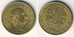 5 Centavo United Mexican States (1867 - ) Brass