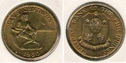 5 Centavo Filipinas Bronce