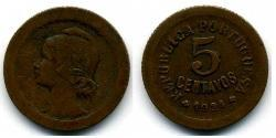 5 Centavo First Portuguese Republic (1910 - 1926) Bronze