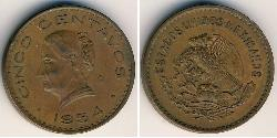 5 Centavo United Mexican States (1867 - ) Bronze