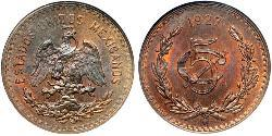 5 Centavo United Mexican States (1867 - ) Copper