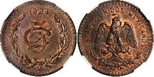 5 Centavo United Mexican States (1867 - ) Copper