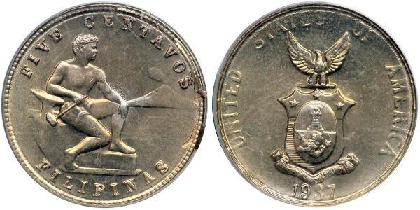5 Centavo Philippinen Kupfer/Zink/Nickel