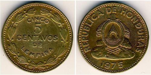 5 Centavo Honduras Messing
