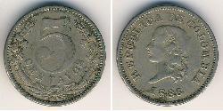 5 Centavo Republica de Colombia (1886 - ) Níquel/Cobre