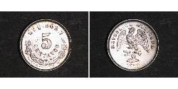 5 Centavo Mexiko (1867 - ) Silber