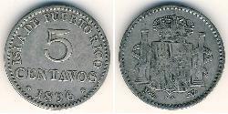 5 Centavo Puerto Rico Silber