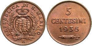 5 Centesimo San Marino 青铜