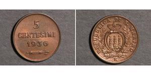 5 Centesimo San Marino Bronce