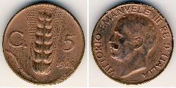 5 Centesimo Kingdom of Italy (1861-1946) Copper Victor Emmanuel III of Italy (1869 - 1947)