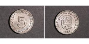 5 Centesimo Republic of Panama Copper/Nickel