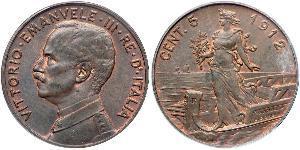 5 Centesimo Kingdom of Italy (1861-1946) Kupfer Viktor Emanuel III. (Italien) (1869 - 1947)