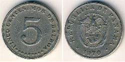 5 Centesimo Panama Kupfer/Nickel