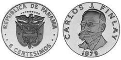 5 Centesimo Panama Kupfer/Nickel Carlos Juan Finlay(1833 – 1915)